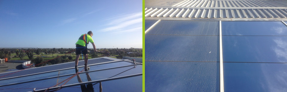 Roof glass cleaning carried out using Waterfed System.